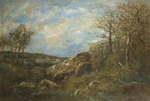 wooded landscape by joseph jefferson