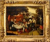 repas dans un parc by david vinckboons