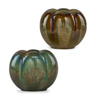 bell pepper vases (pair) by fulper pottery