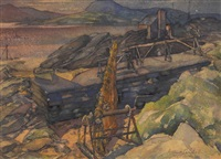 the fishing port at cushendall by arthur m. campbell