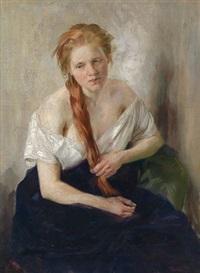 portrait eines jungen mädchens by clara rettich