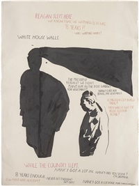 untitled (reagan slept here) by raymond pettibon