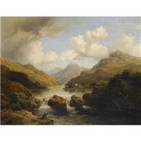 fishermen by a loch by mcneil macleay