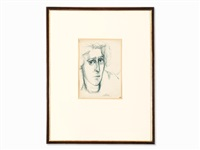 portrait of a woman by markus lüpertz