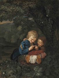 the young bird catchers by eglon hendrik van der neer
