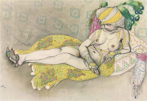 the yellow sultana by leon bakst