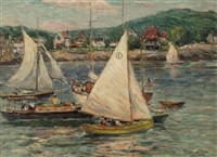 yachts at rockport, massachusetts by reynolds beal