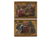 pair of mythological scenes (pair) by domenico antonio vaccaro