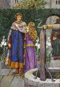lancelot and elaine by eleanor fortescue-brickdale