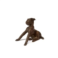 junger sitzender terrier by renée sintenis