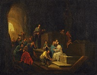 auferweckung des lazarus by jacob jacobsz de wet the younger