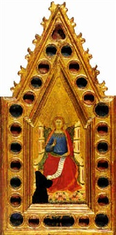 christ enthroned before a franciscan monk by pietro lorenzetti