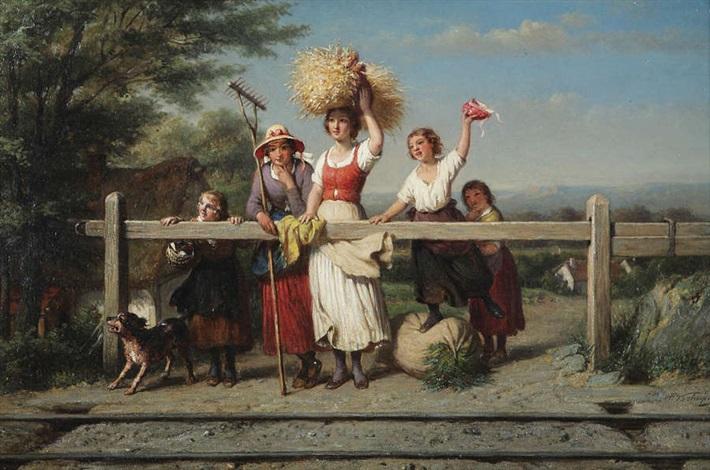 femmes près des rails by françois verheyden
