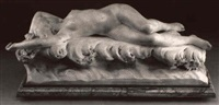 aphrodite reclining upon the waves by jacques dorval-deglise