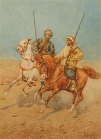 deux cavaliers arabes by giuseppe gabani