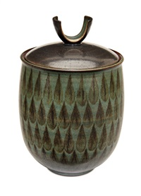 jar with lid by harrison mcintosh