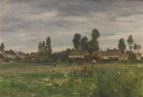 view of a village france by walter griffin