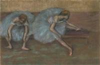 deux danseuses assises by edgar degas