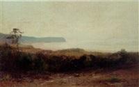 a coastal landscape by louis-auguste auguin