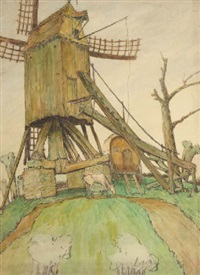 the mill by ger (gerardus petrus) langeweg