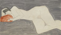 reclining female by milton avery