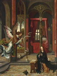 the annunciation by jan de beer