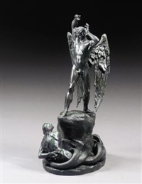 st. michael and the serpent or satan dismayed by henry hugh armstead