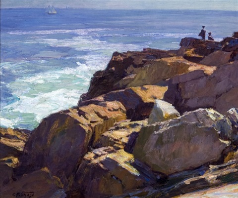 the rockbound coast ogunquit by edward henry potthast