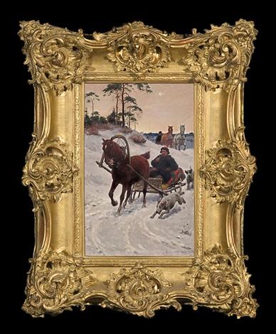 sleigh ride by sigismund ajdukiewicz