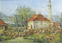 landscape with mosk by partog vartanian