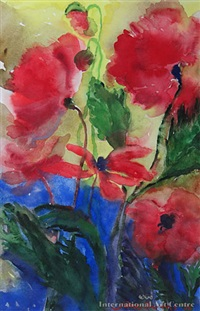 red poppies i by jane evans