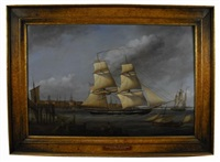 the united states brig bainbridge out of boston harbor by louis dodd