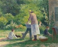 la lessive au jardin by maximilien luce