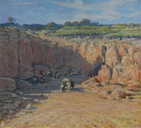 limestone quarry (perth or nsw) by george f. harris