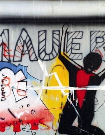 Wall incident Le mur de Berlin by Peter Klasen on artnet