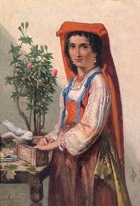 bildnis einer italienerin by sipke (cornelis) kool