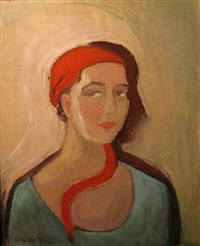 portrait of a woman by karla goetz