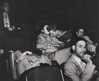 lovers at the movies (infrared photograph), palace theatre, new york by weegee
