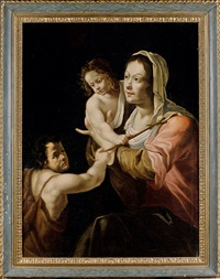 la vierge à l'enfant et saint jean baptiste by french school (17)