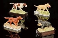english pointer (+ 3 others; 4 pieces from the sporting dogs series) by doris lindner