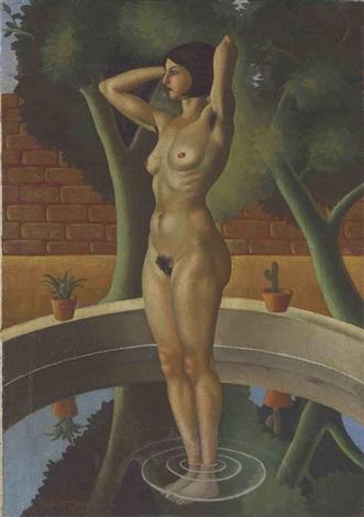desnudo en una fuente by raúl anguiano