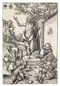 the resurrection (from passion) by lucas cranach the younger
