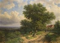 landstraße oberhalb des stromes by alexander joseph daiwaille