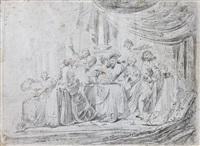 deux scènes de la vie du fils prodigue (pair) by jacob hogers