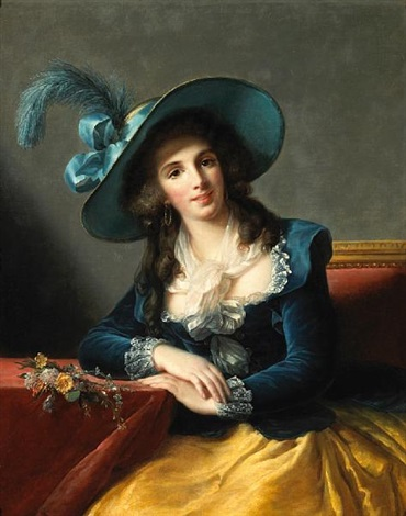 a portrait of a lady seated denise duvrille  by marguerite gérard