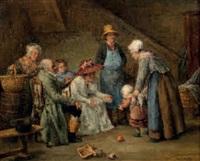 visite de la nourrice by léon marie constant dansaert