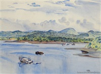 mangonui harbour by rita angus