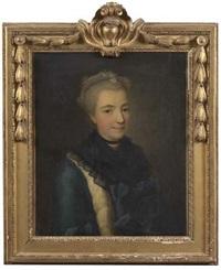 portrait de la marquise de choiseul la baume by jean-martial fredou