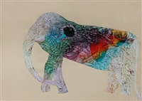 no.717- elephant series by babu xavier