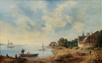 blankenese with mount süllberg on the elbe by cornelius gurlitt